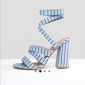 ASOS heeled Sandals Striped